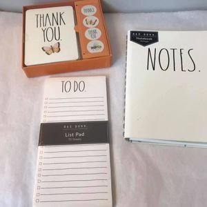 NEW 3-Piece RAE DUNN Stationery Set Paper Notes